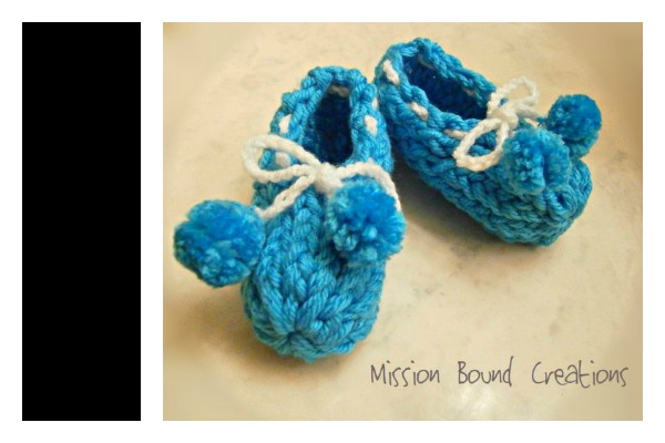 To Knit Baby Booties On A Flower Loom
