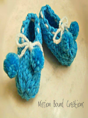 How-To-Loom-Knit-Baby-Booties - LoomaHat.com