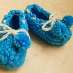 Loom Baby Booties with a Flower Loom