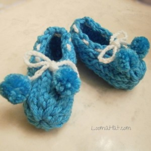 how to loom knit baby booties