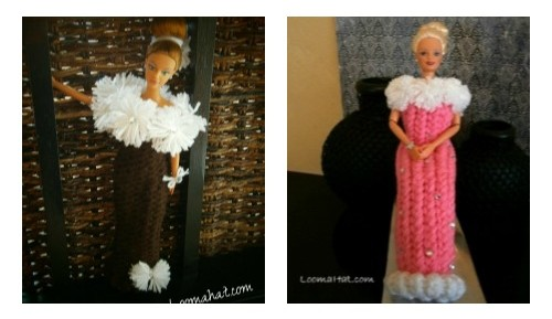 Loom Knit a Doll Dress