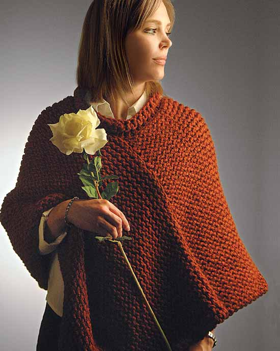 Poncho Knit Patterns : free knitting poncho patterns Quotes