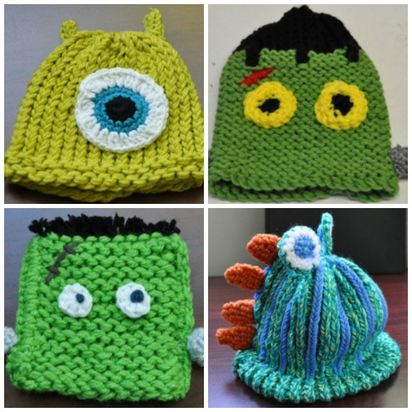 Monster Hat Knitting Pattern : Cute Baby Hats - Pictures and Free Patterns - LoomaHat.com