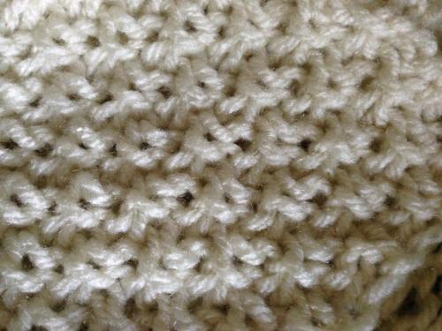 Double Moss Stitch Knitting In The Round : Double moss stitch chart close up loomahat
