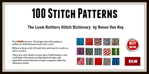 The Loom Knitters Stitch Dictionary 500x250 - LoomaHat.com