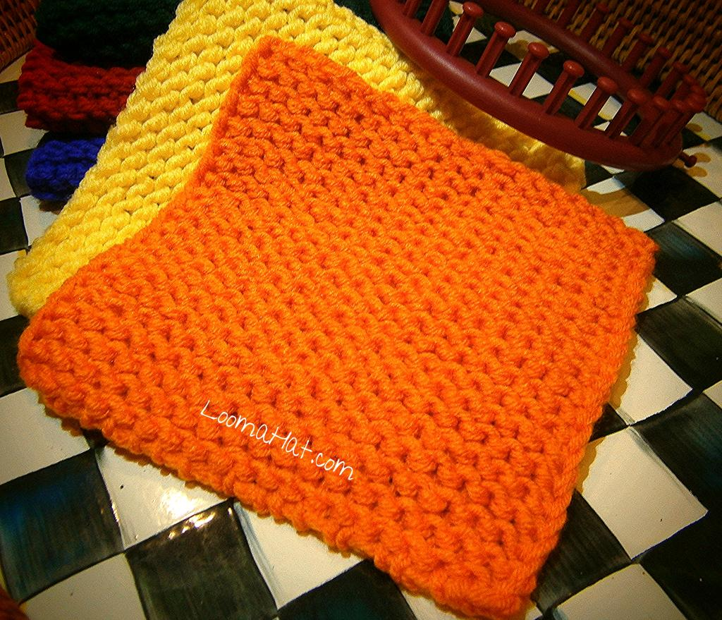 Knitting Patterns For Squares : Knit Squares - Free Pattern - LoomaHat.com