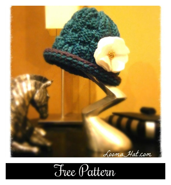 How To Loom Knit A Basket Weave Hat : Basket hat loomahat