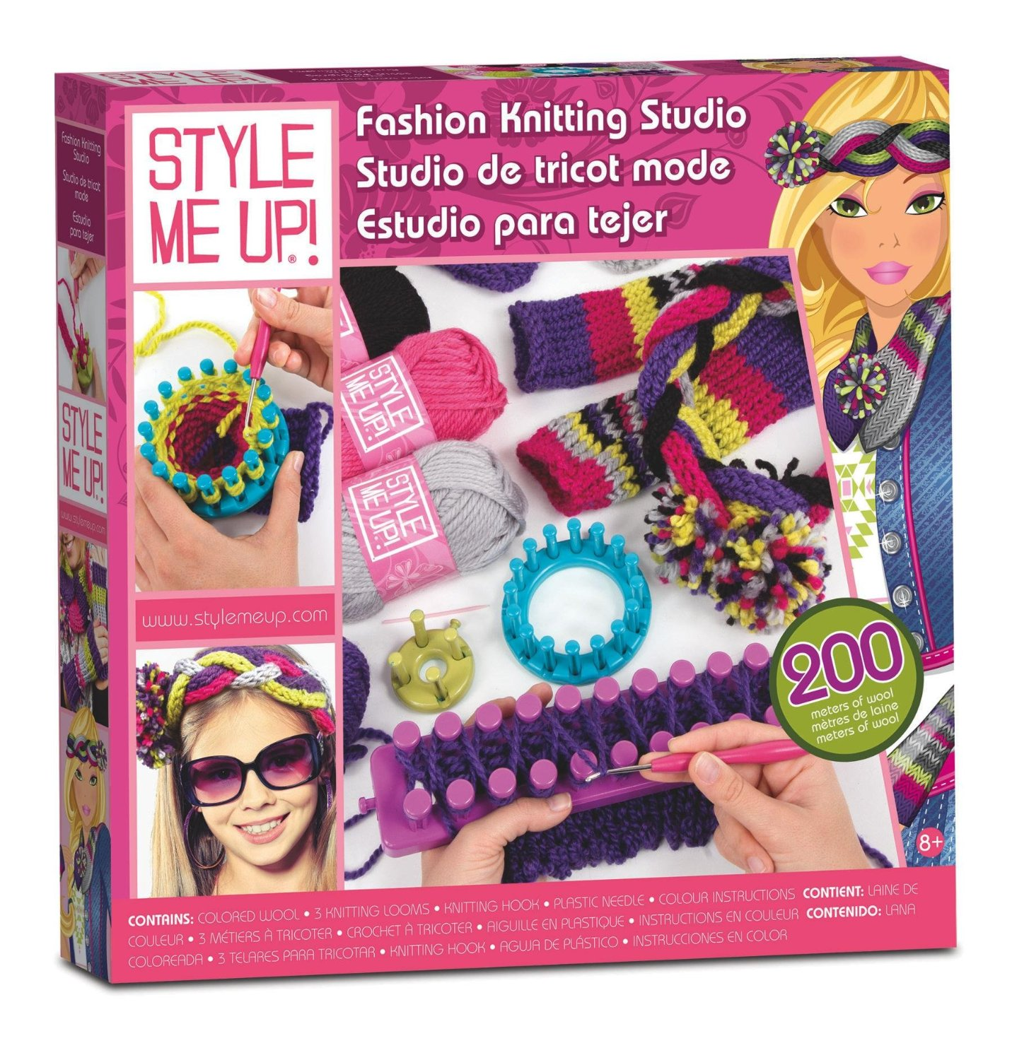 Kids Loom Knitting Kit Style Me Up Fashion Kniting Studio