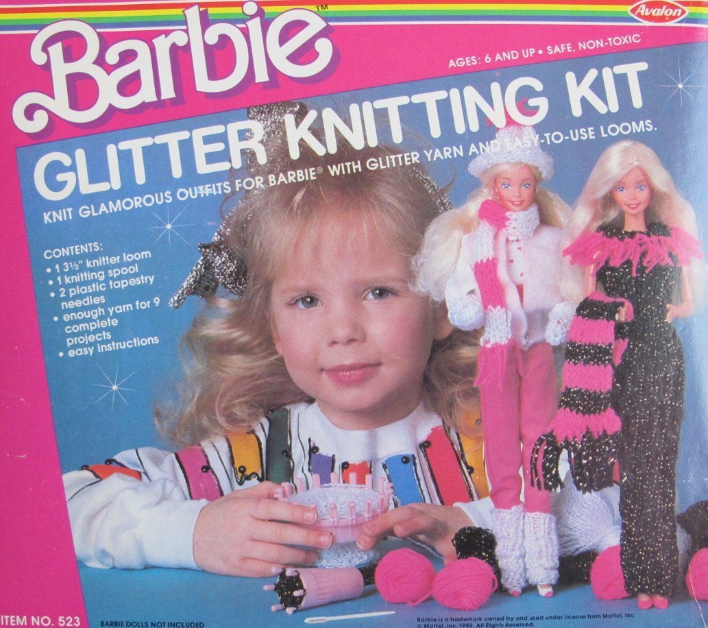 Kids Loom Kit Vintage Barbie Loomahat