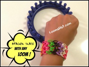 Rainbow Loom Dragon Scale Bracelet