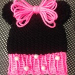 Loom Knit Minnie Mouse Hat – Free Pattern