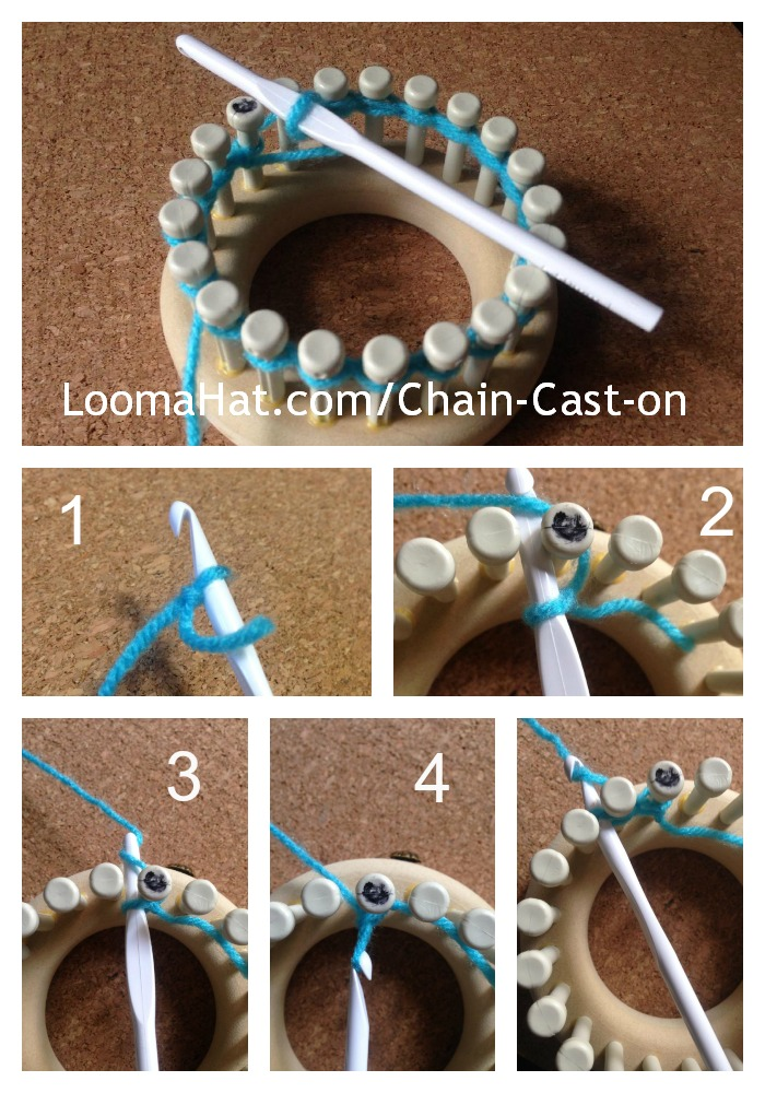 Chain Cast On Loomahat