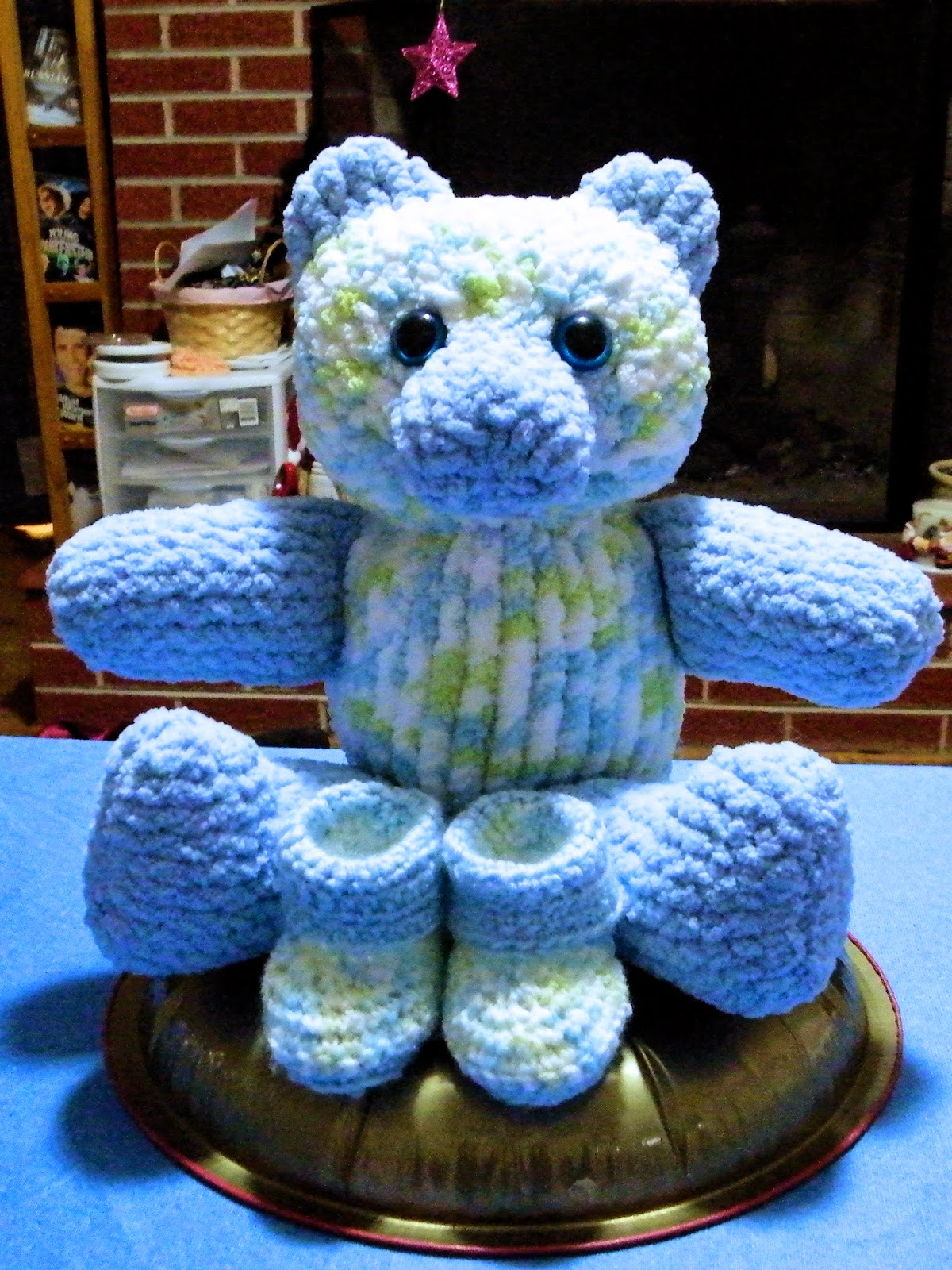 Large Teddy Bear Loom Knit FREE Pattern - LoomaHat.com