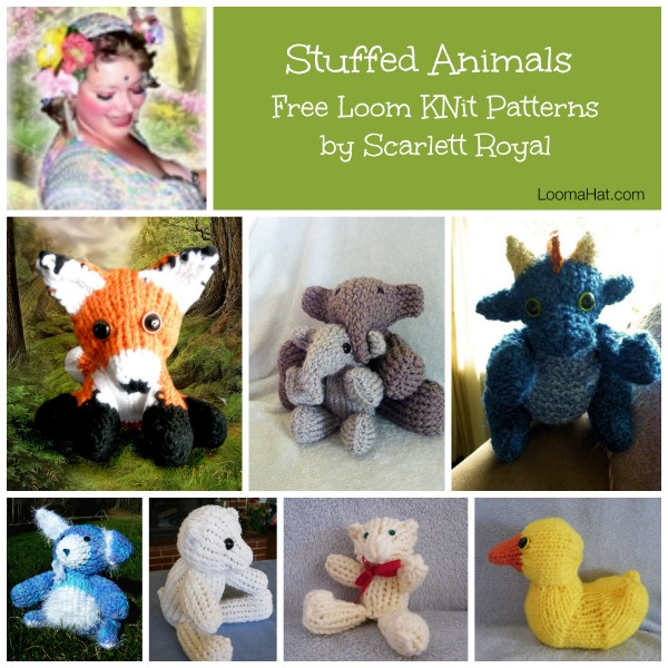 Free Knitting Patterns Stuffed Toys : Loom-knit-Stuffed-Animals - LoomaHat.com