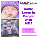 Period of Purple Crying Hats – Information and FREE Loom Patterns