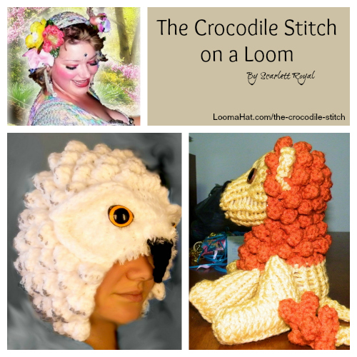 The Crocodile Stitch on a Loom - LoomaHat.com