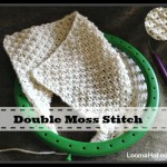 Double Moss Stitch on a Loom