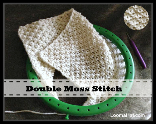 Knitting Double Moss Stitch Instructions : Double Moss Stitch - LoomaHat.com