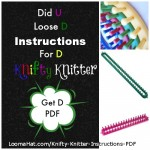 Knifty Knitter Instructions PDF for Round, Long and Rectangular Loom