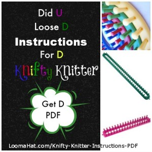 Knifty Knitter Instructions PDF