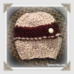 Loom Knit Newborn Hat