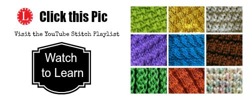 Loom Knit Stitches YouTube Call to Watch