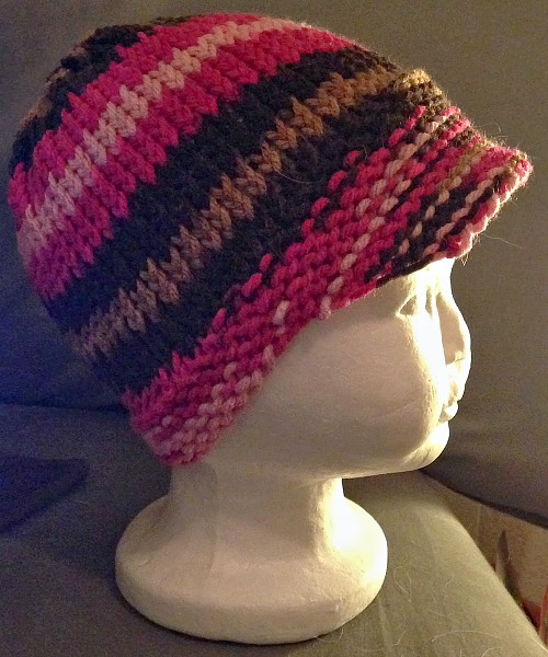 Loom Knit Baby Hat With Brim : Toddler newsboy loomahat