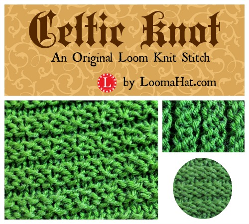 Loom Knitting Stitches Pictures : Celtic Knot Stitch - Knitting Loom