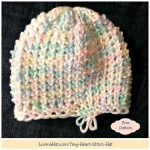 Tiny Heart Stitch Hat – FREE Pattern Child and Adults