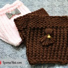 Video Loom Knit Boot Cuffs