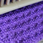 Andalusian Stitch on a Knitting Loom