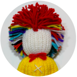Loom knit clown doll boy