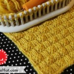 Basket Weave Stitch Pattern on a Loom