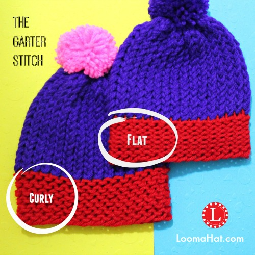 Free Knitting Pattern Garter Stitch Hat : Garter Stitch on a Loom - Pattern & Video