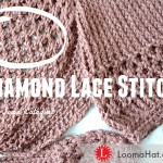 Diamond Lace Stitch on a Knitting Loom