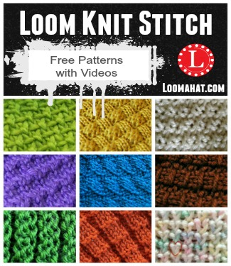 Different Knit Stitches Loom : Loom Knit Stitches Directory of FREE Patterns with Video