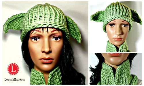 Yoda hat pattern loomahat yoda hat and cowl dt1010fo