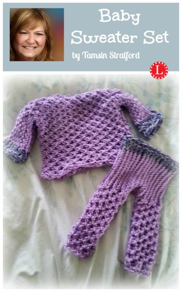 Loom Knit Baby Sweater Set