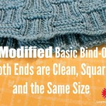 Modified Basic Bind Off on Loom