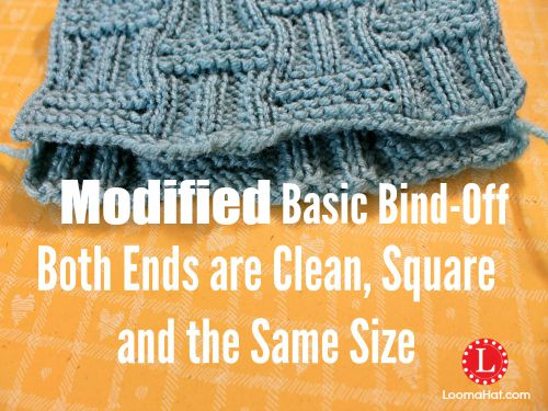 Modified Basic Bind Off On A Loom
