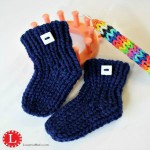 Loom Knit Baby Booties on Loom