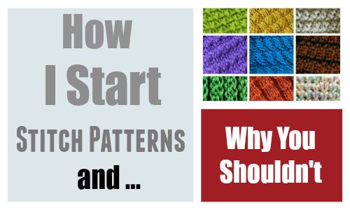 Start my Stitch Patterns