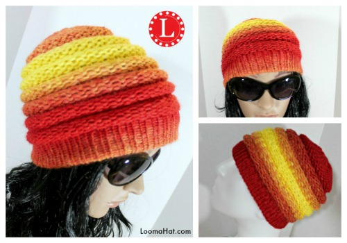 Ombre Beanie Pattern On The Knitting Loom
