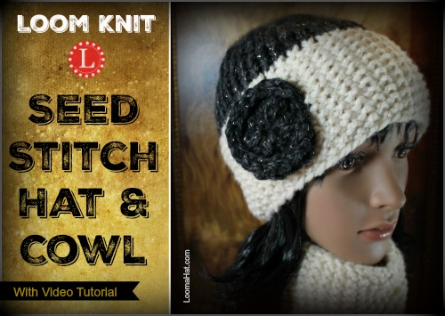 Seed Stitch Brim Hat And Cowl Free Pattern W Video