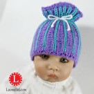 Loom Knit Brioche Paper Bag Hat