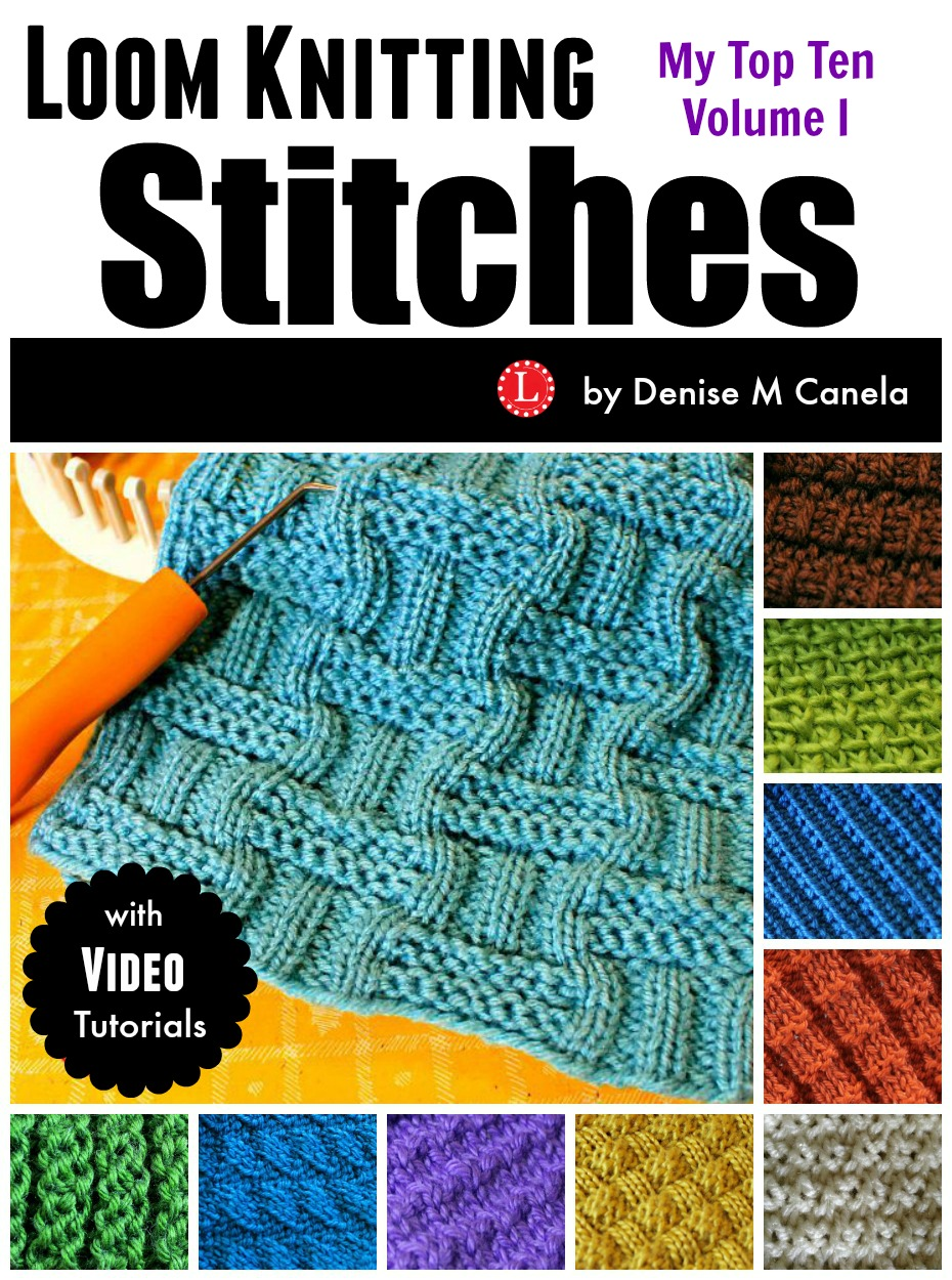 Knitting Loom Stitches : Loom knit scarf on any for beginners loomahat