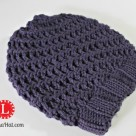 Spiral Hat loom knit slouchy