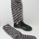 Loom knit sock boot