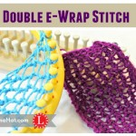 Double e-Wrap Knit Stitch
