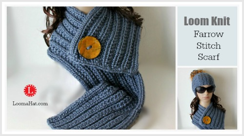 Farrow Rib Stitch Scarf